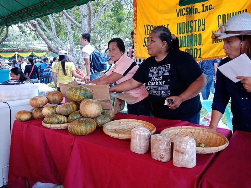 Different fresh and processed agricultural and fisheries products from the local farmers in Davao region were on display during the Grand Farmers Fiesta at Manambulan, Tugbok District, Davao City yesterday, May 17. (Lyka Casamayor)