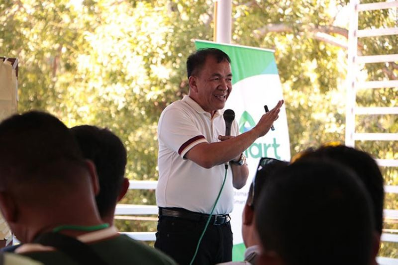 NEGROS. Dr. Cedric Daep shares his knowledge on hazards and disaster preparedness to the participants composed of members of clergy and lay people. (Contributed photo)