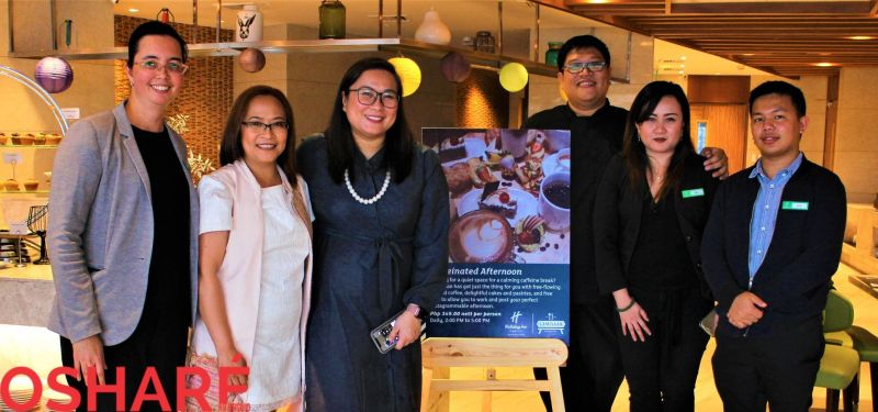 Holiday Inn Baguio staff Dyen Boado (Admin. Asst.), Cristina Libo-on (Director of Sales), Christopher Colle (Food and Beverage Director), and Chef Alwin Mantuano (Executive Chef). (Photo by Osharé)