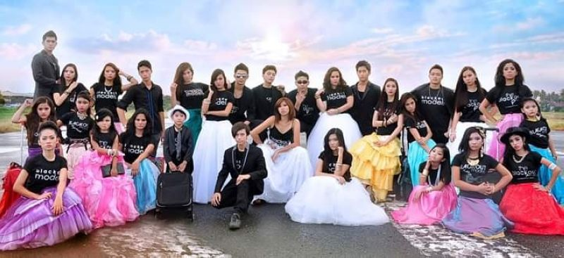 The Blackout Models on the runway of the old airport. (Photo by Joy Pauline Bangero)