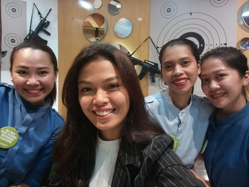 The friendly staff of Browhaus Abreeza after my procedure
