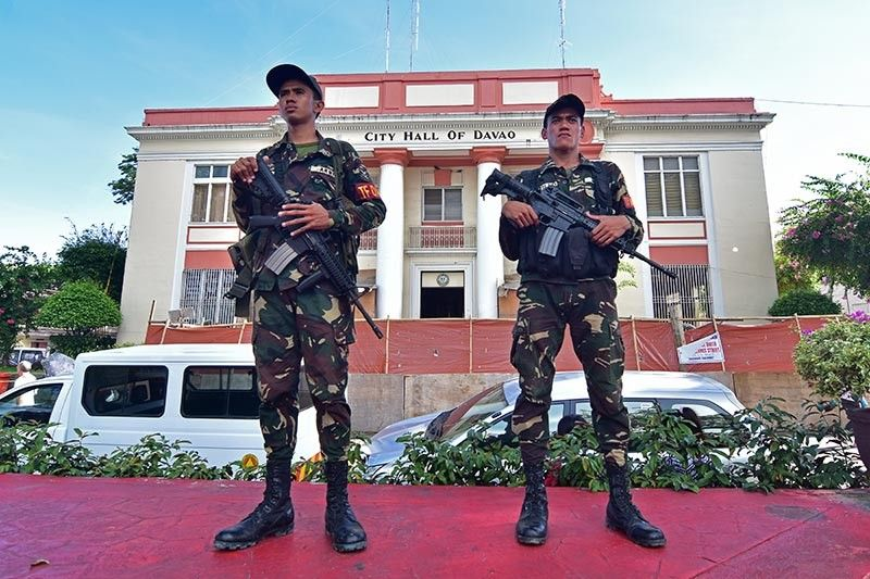 DAVAO. Authorities say that the security situation in Davao City and Davao Region has improved with the implementation of martial law in Mindanao. (Macky Lim)