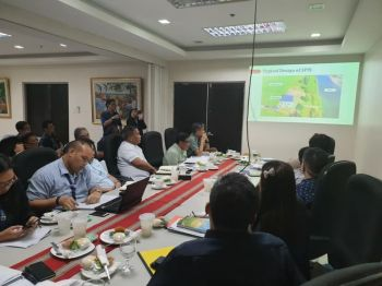 DAVAO. During a meeting last May 2, 2019 with the Inter-Agency Committee led by the Department of Agriculture on the National Irrigation Map (NIM). (Photo by Agriculture Secretary Emmanuel Piñol)