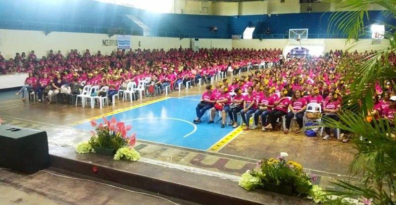 Libuan ka kababayen-an sa Mandaue City ang nisalmot sa Women's Summit sa syudad, nga gihimo Lunes, Mayo 20, sulod sa Mandaue City sports Complex. (FMD)