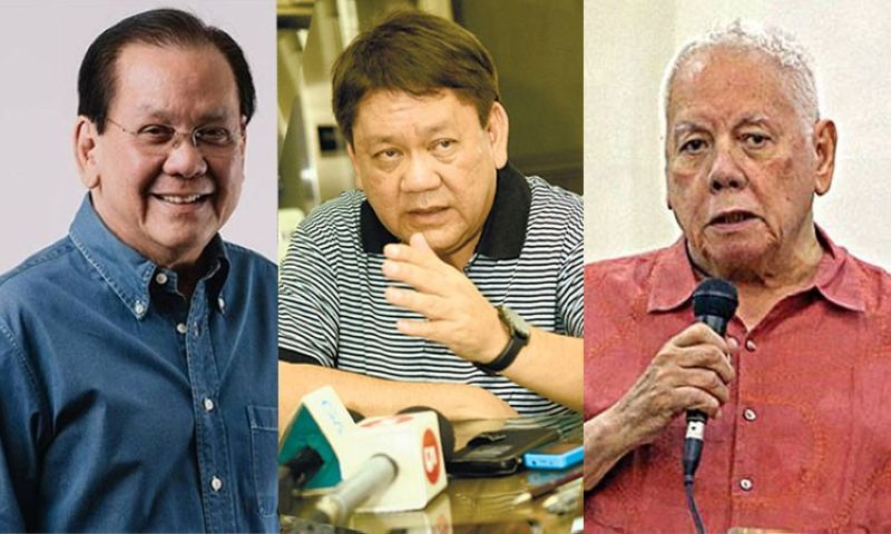 CEBU. (From left) Serge Osmeña, Tomas Osmeña, and Sonny Osmeña. (File photos)