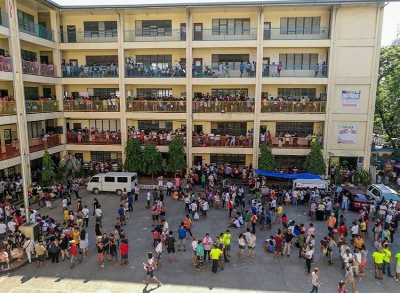 CEBU. Voters troop to the Cebu City Central School in Cebu City to cast their vote Monday, May 13, 2019. (Arni Aclao/ SunStar file)