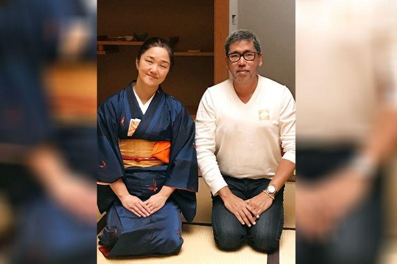 JAPAN. With Haruna Sensei. (Jinggoy I. Salvador)