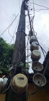 BACOLOD. An electric post of Ceneco catering to consumers at Barangay Dulao in Bago City. (Erwin P. Nicavera)
