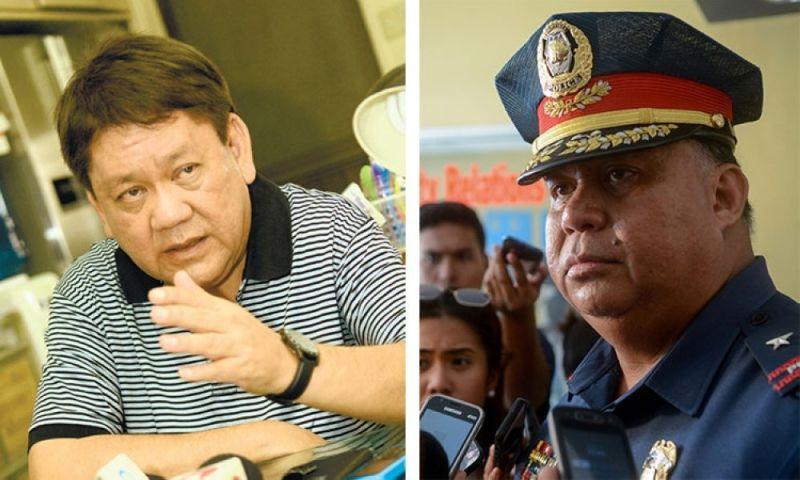 Outgoing Cebu City Mayor Tomas Osmeña (left) ug Police Regional Office-Central Visayas Director Debold Sinas (SunStar file)