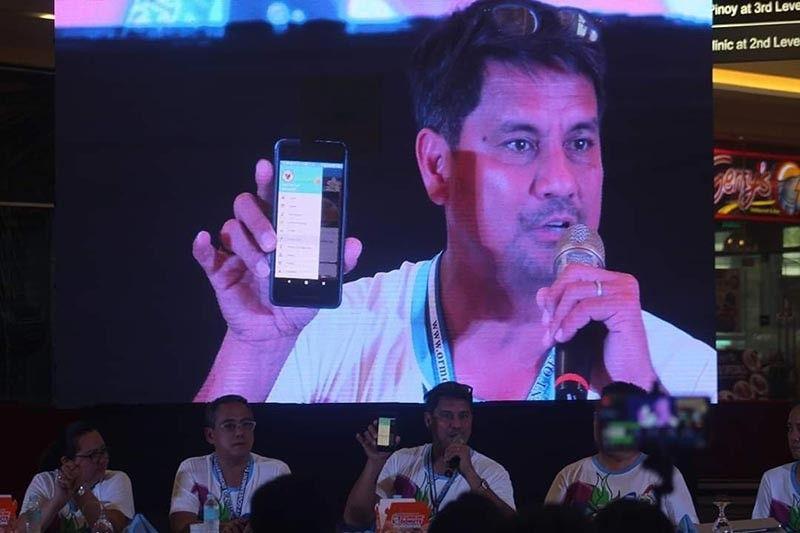 LEYTE. Gipaila-ila ni Ormoc City Mayor Richard Gomez ang bag-ong mobile application alang sa Ormoc City, Leyte, Miyerkules, Mayo 22, 2019. (John Kevin D. Pilapil)
