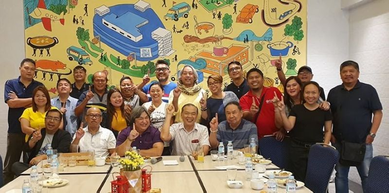 PAMPANGA. Magalang Mayor-elect Romulo Pecson joins officers and members of the Pampanga Press Club during Tuesday's News@Hues at Park Inn Hotel, SM City Clark. (Chris Navarro)