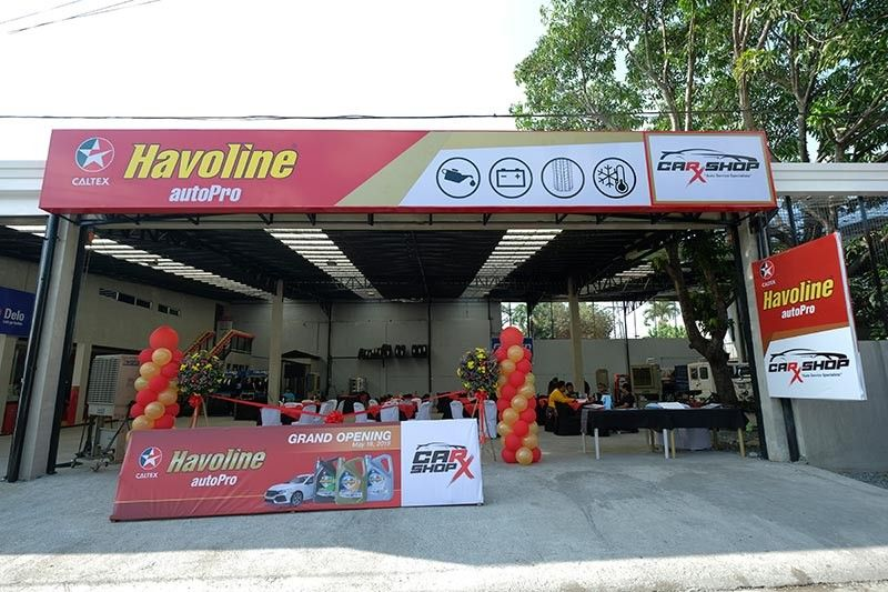 Caltex Havoline autoPro Car-X shop. (Ace June Rell S. Perez)