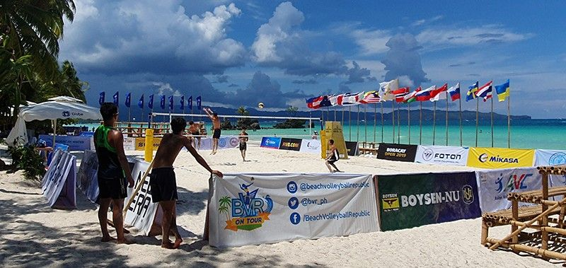 AKLAN. Flags coming from different countries waves at the Boracay front beach for the three day FIVB World Beach Volleyball Tournament  Open. (Jun N. Aguirre)