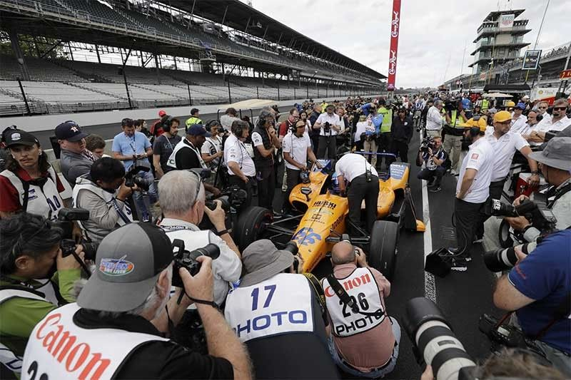 Fernando Alonso, of Spain, prepares to make his final qualification attempt for the Indianapolis 500 IndyCar auto race at Indianapolis Motor Speedway, Sunday, May 19, 2019. Alonso failed to make the field. (AP Photos)