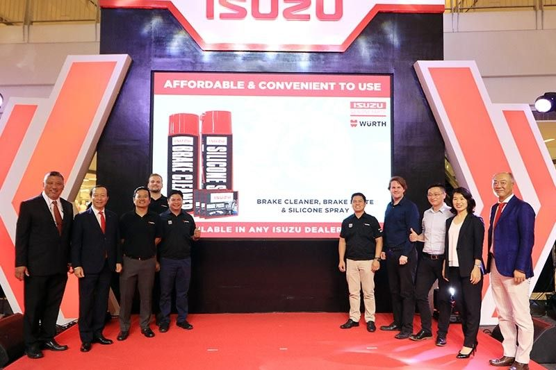 """Isuzu Philippines Corp. executives together with Wuerth executives, during the """"I Love Isuzu"""" campaign launch. (Contributed Photo)"""