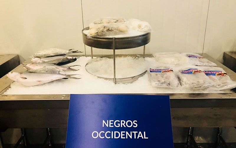 MANILA. A portion of The Cold Room: Seafood at Sub-Zero displaying some of the seafood products of Negros Occidental including its blue swimming crabs at the ongoing IFEX Philippines 2019 being held at the World Trade Center in Pasay City. (Contributed Photo)
