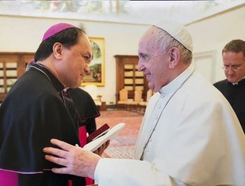 (Photo taken from Bishop Pablo Virgilio David's Facebook account)