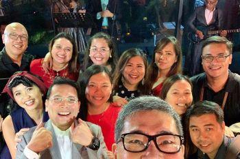 DAVAO. The Davao media with Abreeza's Ken Kapulong & Faith Dimaano. (Jinggoy I. Salvador)