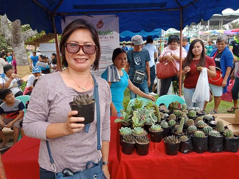 Cactus and succulent grower and seller Robby Codilla. (Lyka Casamayor)