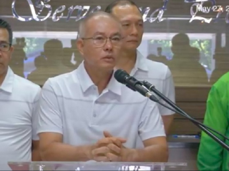 Philippine National Police Chief Oscar Albayalde (Screenshot from PNP/ Facebook page live video)