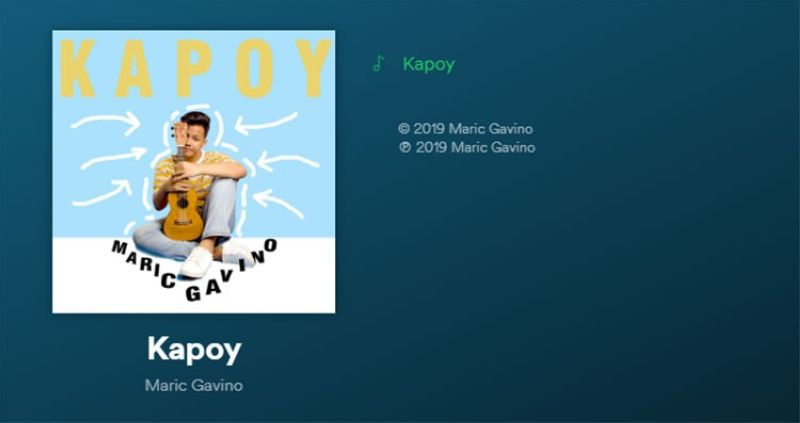 DAVAO. Dabawenyo singer-songwriter Maric Gavino released on May 18, 2019 his sophomore single entitled Kapoy. (Contributed Photo)