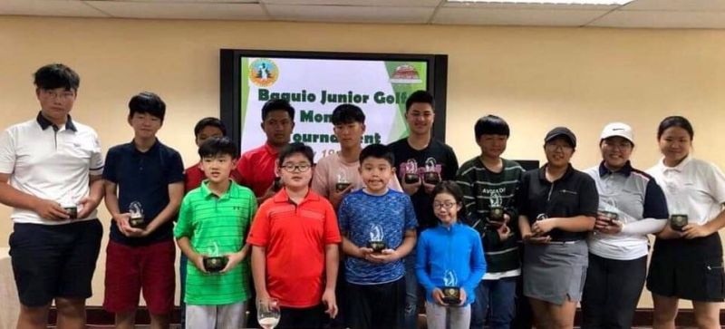 BAGUIO. Young parbusters who topped their respective division in the Baguio Junior Golfers Monthly Tournament at the Baguio Country Club recently. (Contributed photo)