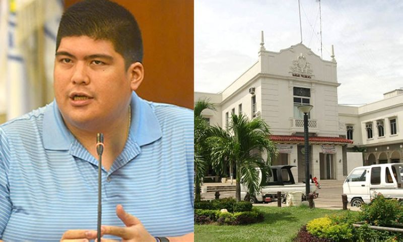 CEBU. Outgoing Mandaue City Mayor Luigi Quisumbing and facade of Mandaue City Hall. (SunStar File)