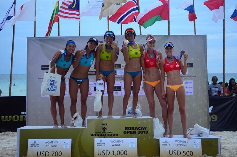 WINNERS. Japan won the gold and silver medals in the women's division of the Boracay Open. (Contributed photo)