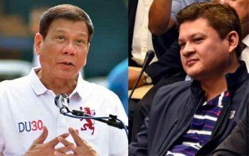 MANILA. President Rodrigo Duterte and his son Paolo. (SunStar File)