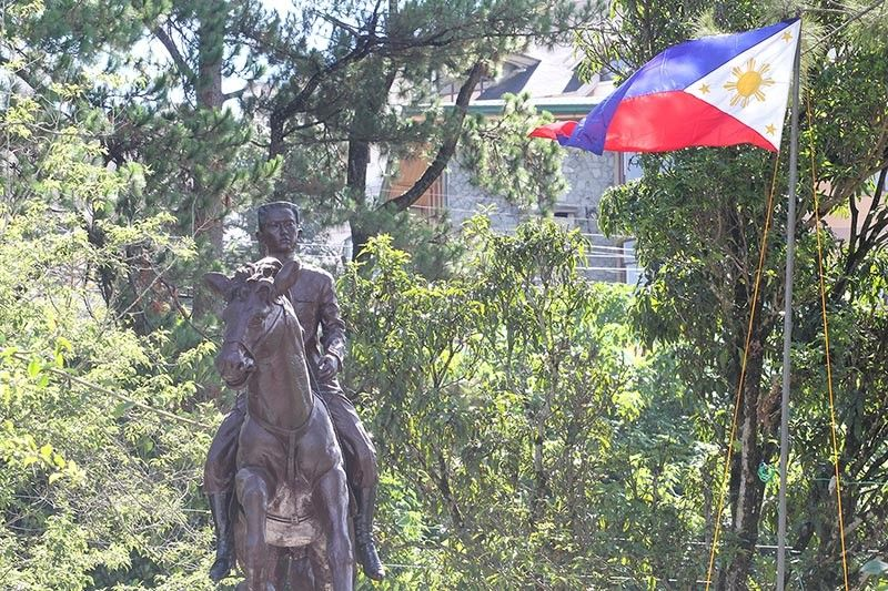 BAGUIO. The Philippine flag unfurls at the Emilio Aguinaldo Memorial Shrine in Baguio City on May 28, 2019 as the country commemorates the National Flag Day. On the same day, 121 years ago, the Philippine flag was first unfurled after the Philippine Revolutionary Army defeated Spanish forces in a battle at Alapan, Imus, Cavite. (Jean Nicole Cortes)