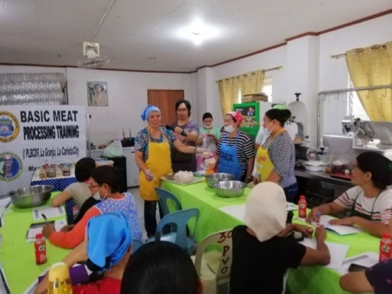 LA CARLOTA. Participants attend the two-day basic meat processing training held at the Provincial Livestock Breeding Center and Dairy Farm, Barangay La Granja in La Carlota City last week. (Contributed Photo)