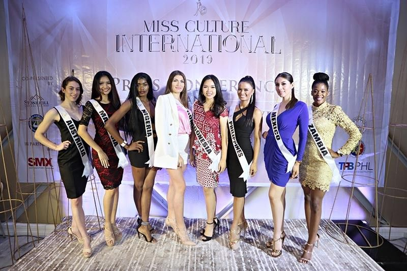 BACOLOD. The eight ladies who joined the Miss Culture International 2019 pageant to be held at the SMX Convention Center on May 31. (Contributed photo)