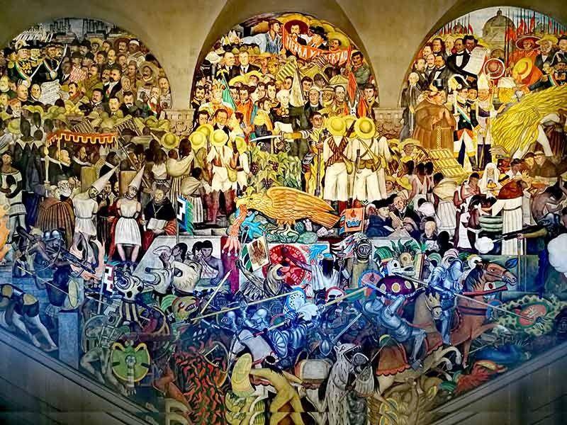 Diego Rivera Mural at the Palacio Nacional. (Photo by Grace M. Avanzado)