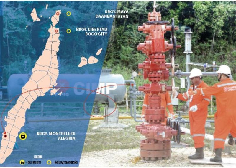 GUSHING WITH HOPE. Oilers check on the control valves in a well in Alegria, Cebu in May 2018. After success in finding crude oil and natural gas in Alegria town, the Department of Energy says oil exploration is now being conducted in two other areas in Cebu. (SunStar file)