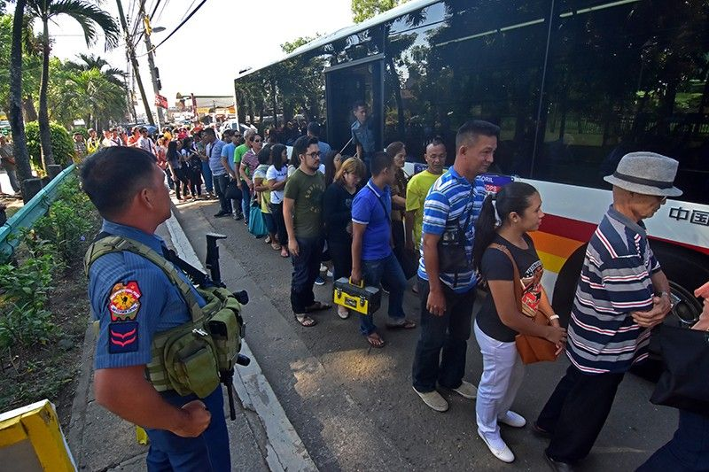 Public utility jeepneys (PUJs) operating in Catalunan Grande and Sasa, Davao City will soon be phased out following the implementation of the Davao Integrated Bus System.  (Macky Lim)