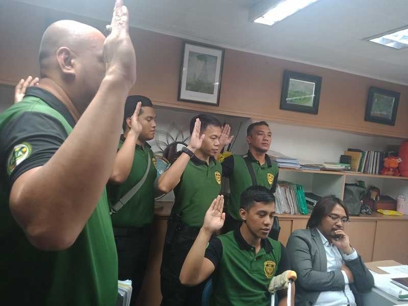 MANILA. Philippine Drug Enforcement Agency (PDEA) operatives file the charges against Jacky Co and others before the Department of Justice on Friday, May 31, 2019. (From PDEA spokesperson Derrick Carreon)