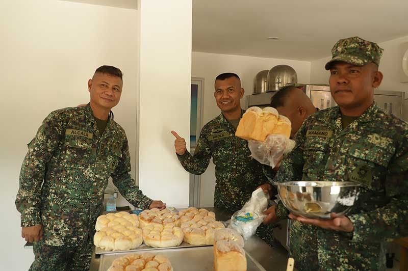 "CAVITE. Proceeds of the newly-opened ""Panaderong Marino"" bakery in Ternate, Cavite will benefit the Philippine Marines themselves, some of them previously wounded, as well as their families. (Contributed Photo)"