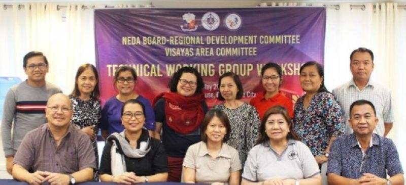 NEGROS. Regional directors and personnel of the National Economic and Development Authority in the Visayas during the technical working group workshop in Dumaguete City recently. (Contributed photo)