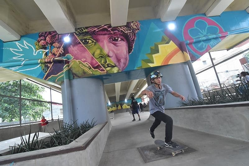 The newly-opened Davao City Skatepark. (Macky Lim)