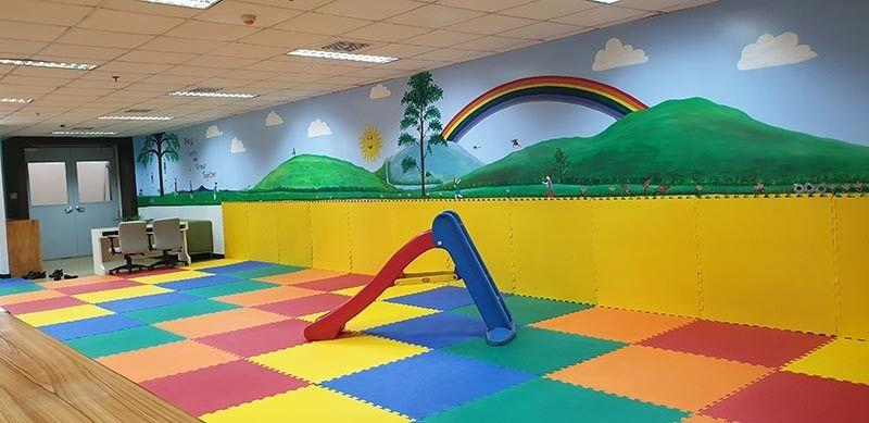 MANILA. The GSIS Arugaan is a place where the children of GSIS employees can stay to learn and play. This is the new addition in the GSIS Financial Center established by PGM Aranas. (Carla N. Cañet)