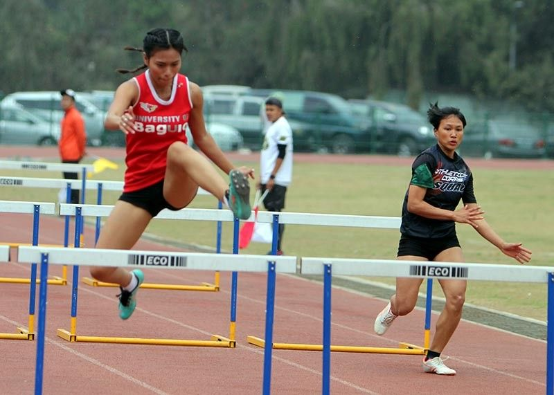 BAGUIO. A UB trackster participate during the athletics competition of the Baguio – Benguet Educational Athletic League (BBEAL). With bulk of the BBEAL member schools competing in Prisaa, the city is being eyed as host of the national games in 2020. (Photo by Roderick Osis)