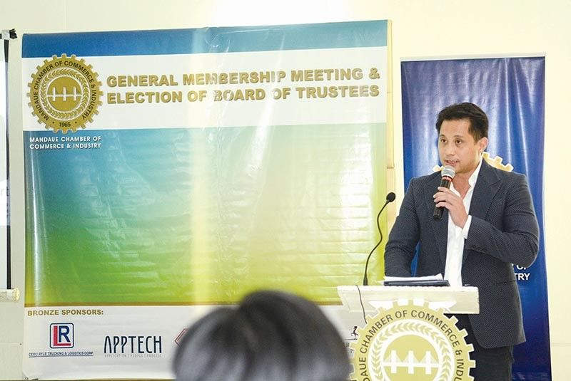 CEBU. Incoming sixth district Provincial Board member Glenn Anthony Soco says his plans will help make Cebu the friendliest investment destination for aspiring entrepreneurs. Soco is a past president of the Mandaue Chamber of Commerce and Industry. (SunStar file)