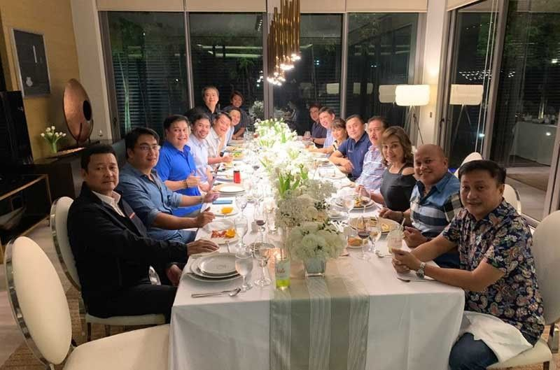 MANILA, Senators and senators-elect who form the new majority bloc meet over dinner at the residence of Senator Emmanuel Pacquiao on Wednesday, June 5, 2019. (Photo from Manny Pacquiao Twitter)