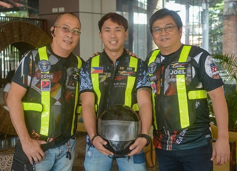 DREAM. FZ16 Cebu members (from left) Sisoy Cinco, Gigi Gonzaga and Joel Pascual hope other motorcycle groups will copy their plan to train their members in responding to medical emergencies. (SunStar photo / Arni Aclao)