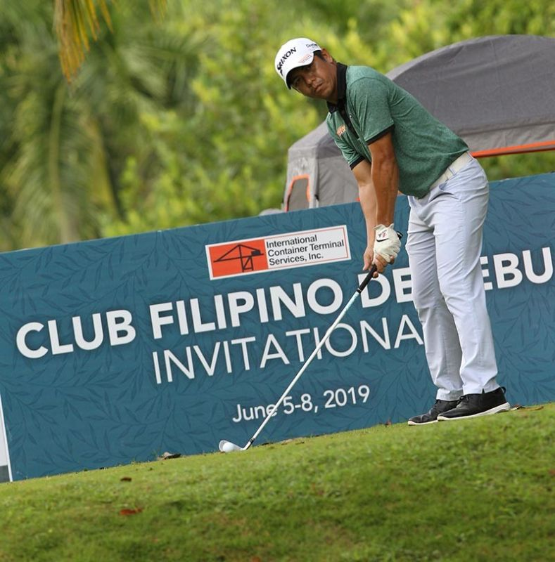 STILL IN THE HUNT. Rufino Bayron shot a 69 in round three to stay four strokes off the lead at 208 in the ICTSI Club Filipino de Cebu Invitational. (Contributed Photo)