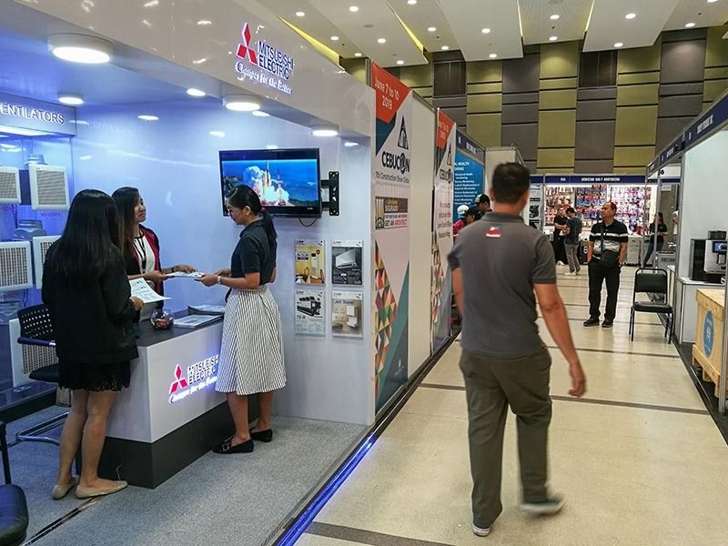 CEBU CONSTRUCTION SHOW. Sales for elevators are up, says International Elevator and Equipment Inc. president Ramoncito Ocampo, who has a booth at the Cebu Construction Show at the SM Seaside City. The top importers in Central Visayas are in construction-related businesses. (SunStar Photo/Arni Aclao)