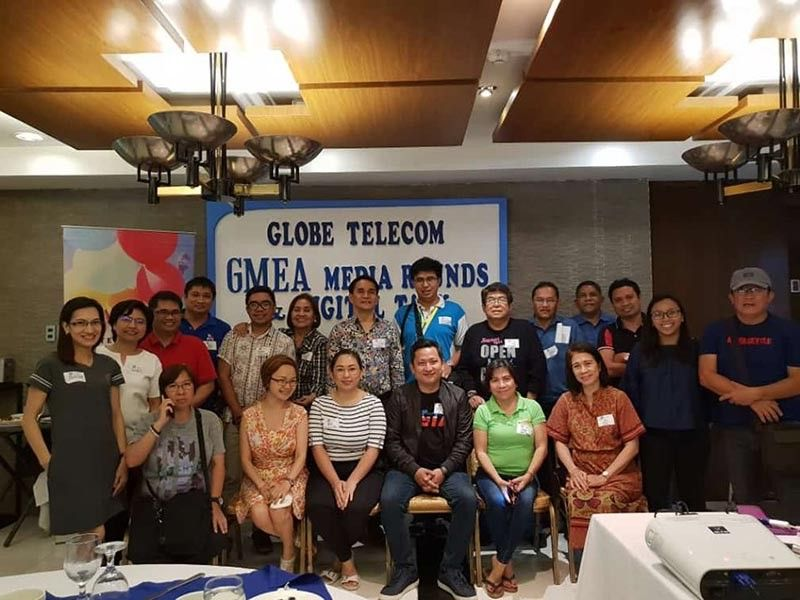 BACOLOD. Globe Telecom officials with some local media during the briefing on the 2019 Globe Media Excellence Awards at L'Fisher Hotel in Bacolod City Monday, June 10, 2019. (Contributed photo)