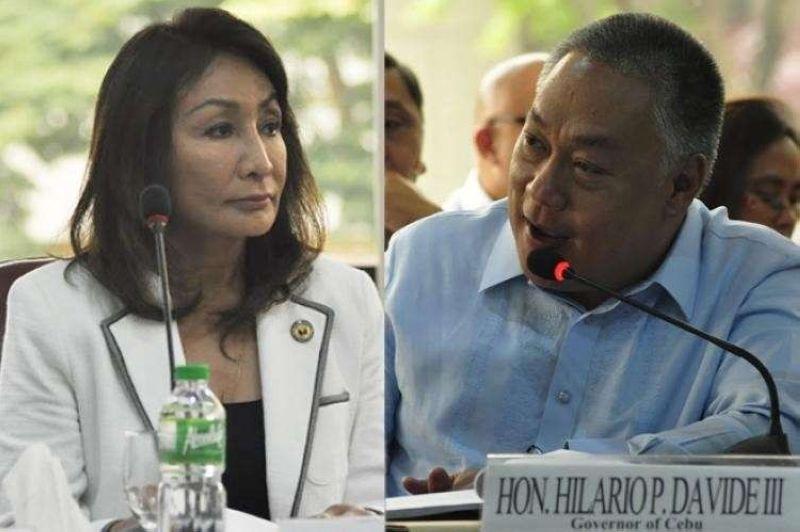 CEBU. Cebu governor-elect Gwen Garcia and vice governor-elect Hilario Davide III. (SunStar file)