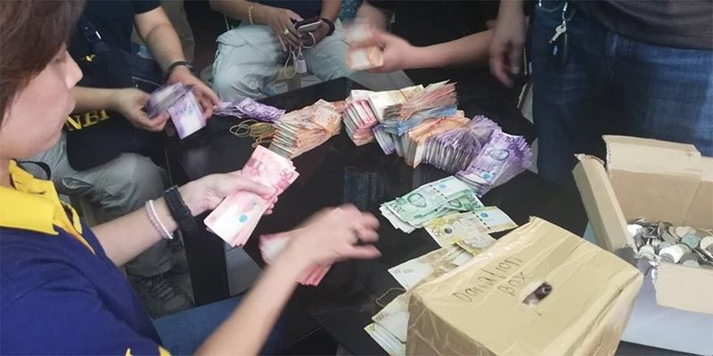 OPOL. The National Bureau of Investigation-Northern Mindanao says over P300,000 cash were seized in a raid at a Kapa office in Igpit, Opol, Misamis Oriental on Monday, June 10, 2019. (PJ Orias)