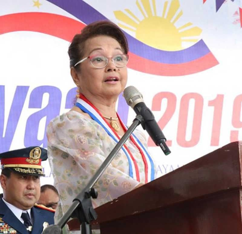 BULACAN. House Speaker Gloria Macapagal-Arroyo attends the Independence Day rites on June 12, 2019 at the Barasoain Church in Malolos City, Bulacan. (Photo from House of Representatives)
